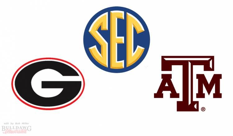 Georgia vs Texas AM SEC graphic by Bob Miller