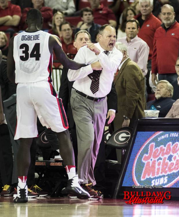 Mark Fox is ejected from the Alabama game