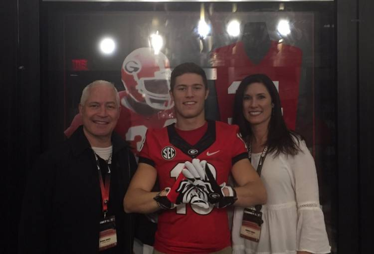 Brooks Buce with family on visit to the University of Georgia (photo from Brooks Buce on Twitter)
