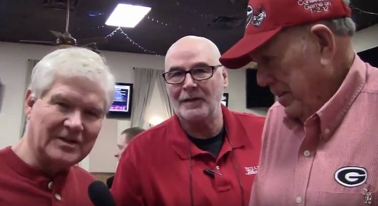 Larry Wages (left, Bulldawg Illustrated's Greg Poole (middle), and Dwayne 'The Sheriff' Gilbert (right)
