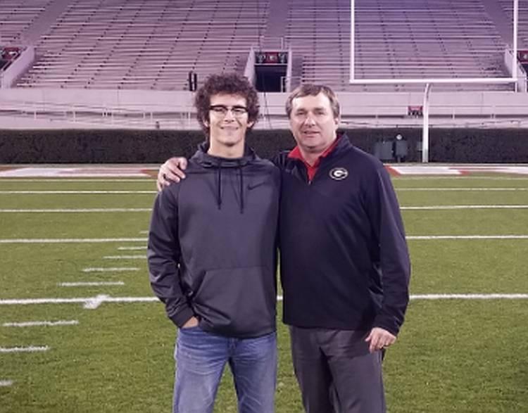 Stetson Bennett IV (left) with Georgia Head Coach Kirby Smart (photo from Stetson Bennett IV - Twitter)