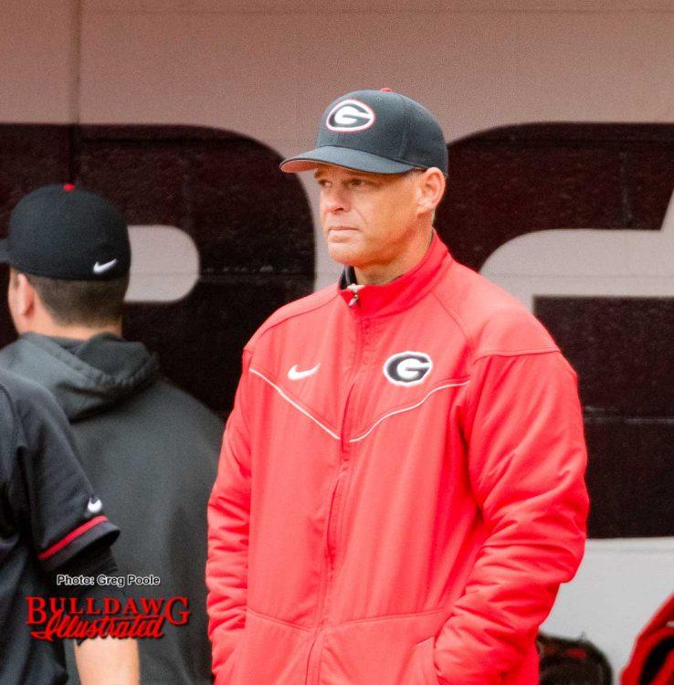 Georgia baseball team's Head Coach Scott Stricklin