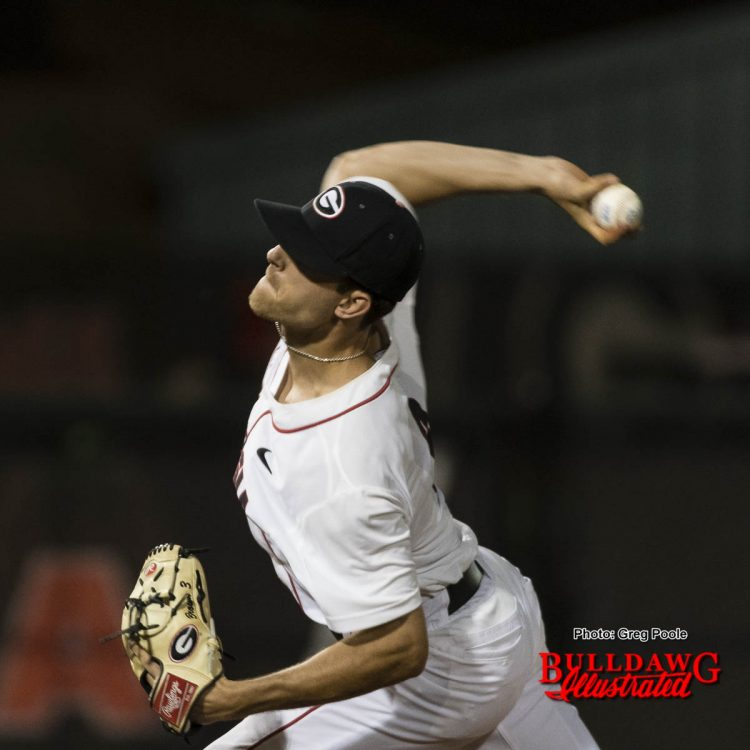 Blakely Brown was one of the seven Bulldog pitchers to have a solid night on the mound