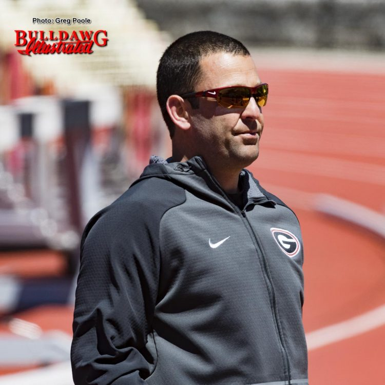 Head track coach Petros Kyprianou