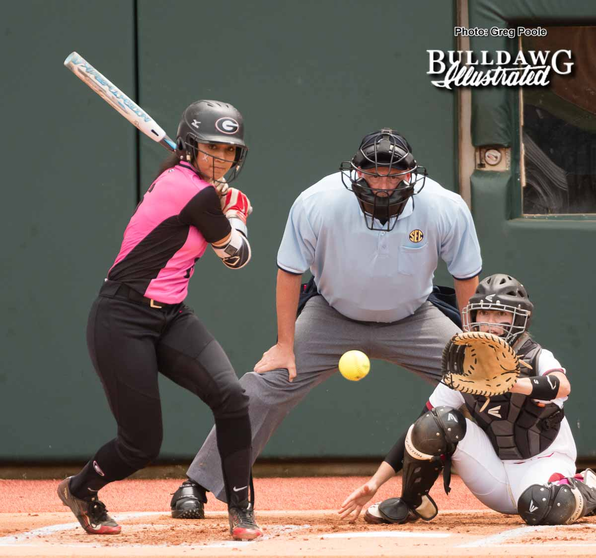 Cortni Emanuel - NFCA All-American outfielder - UGA Women's Softball Team