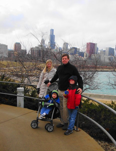 Allison and David Abernathy with sons Jack and Hatton when they lived in Chicago, IL