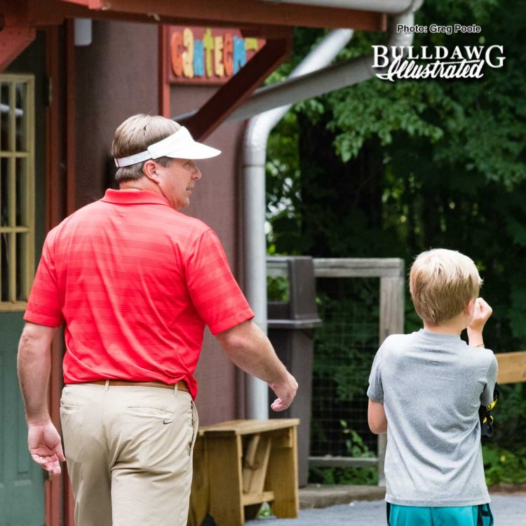 Kirby Smart and his son during the camp – Camp Sunshine 2017
