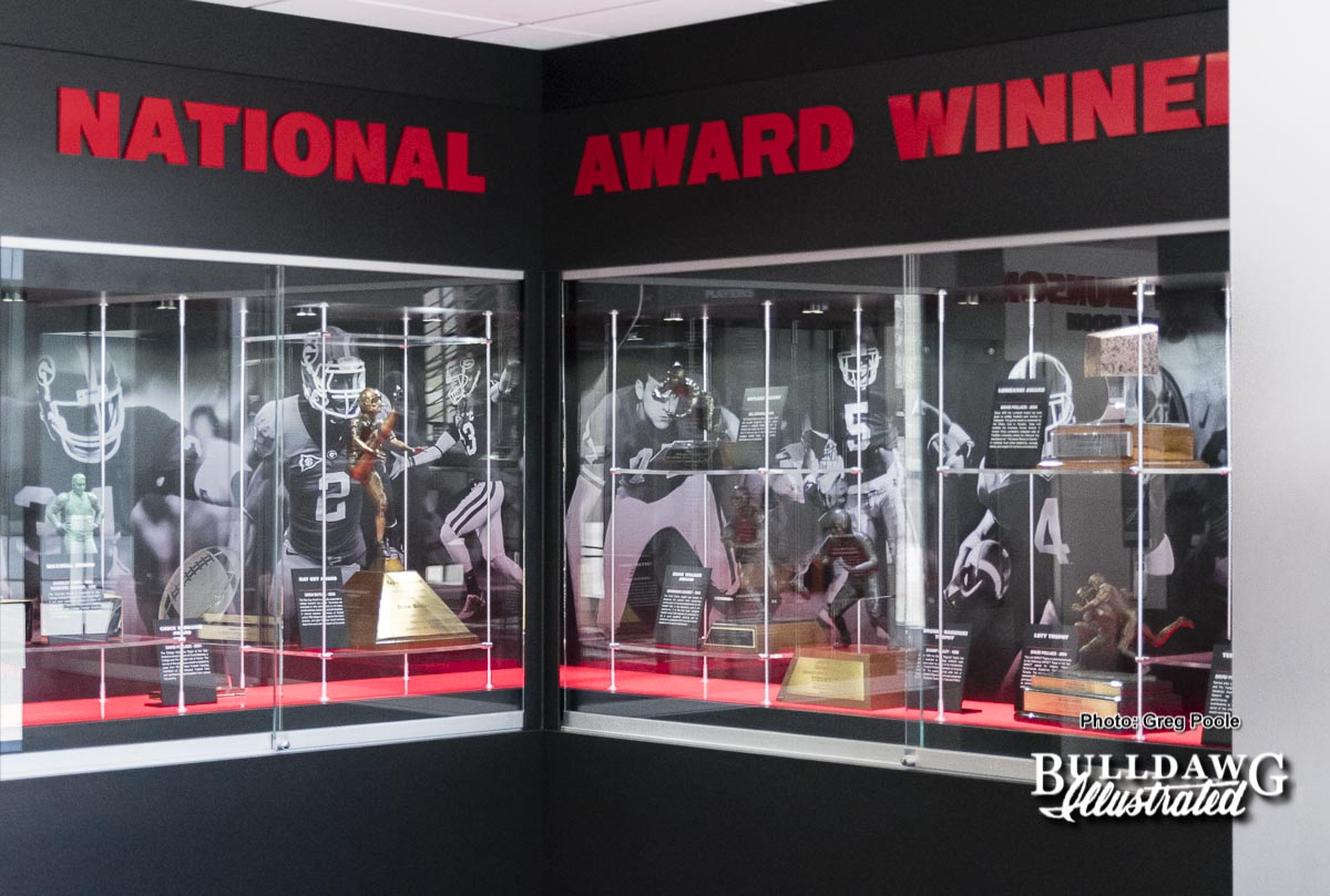 Display in the Larry Munson trophy room