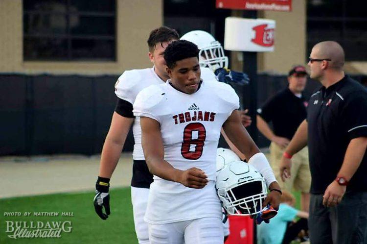 Tyrone Harris (8) - Lee County High School Spring Game - May 2017 (Photo: Matthew Hall)