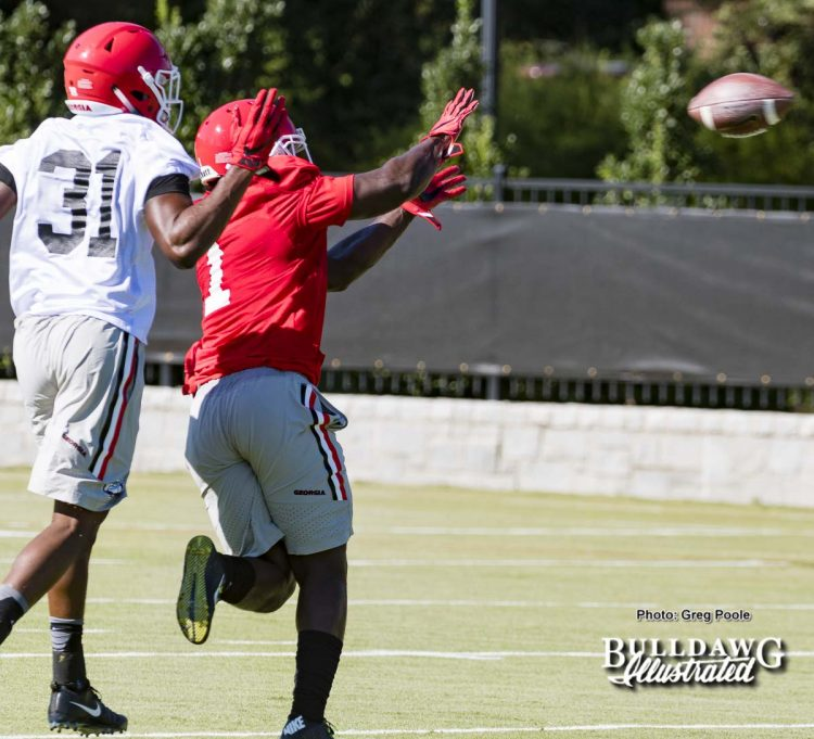 Freshman William Poole defends Sony Michel - day one fall camp – July 31, 2017