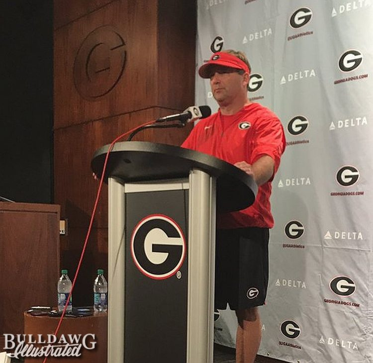 Kirby Smart day two of fall camp post-practice presser