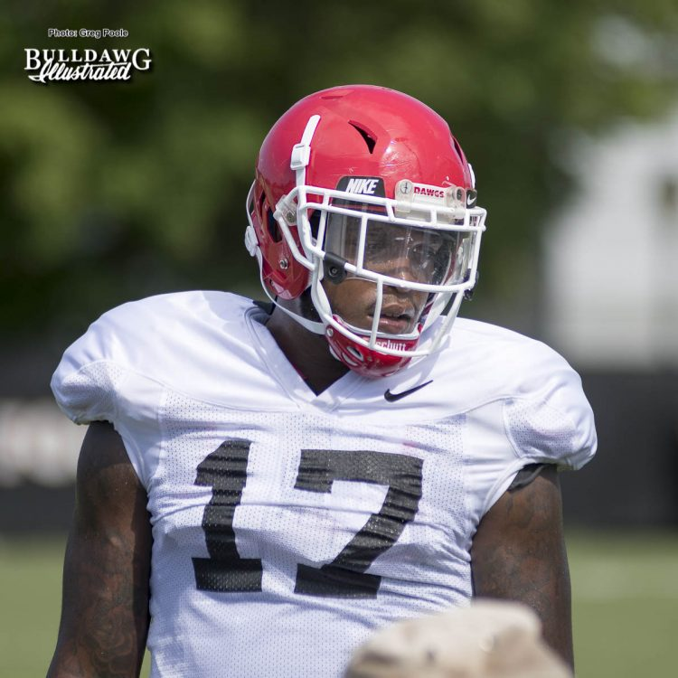 Davin Bellamy (17) - Fall Camp practice No. 14 - Tuesday, August 15, 2017
