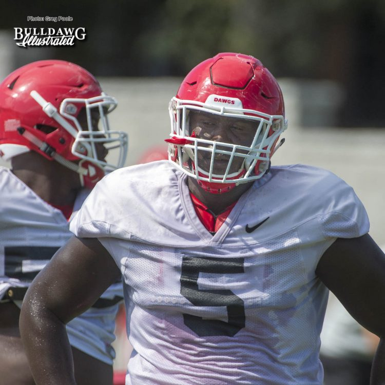 Julian Rochester (5) - Fall Camp practice No. 14 - Tuesday, August 15, 2017
