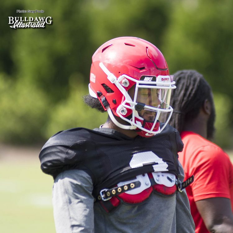 Tyler Simmons (3) - Fall Camp practice No. 14 - Tuesday, August 15, 2017