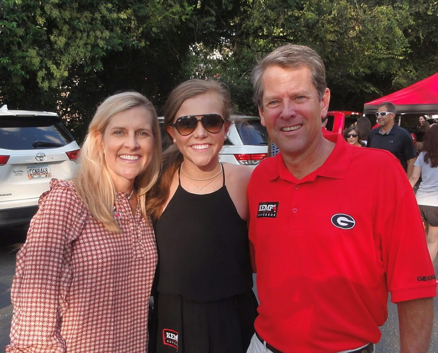 Marty, Amy Porter and Brian Kemp