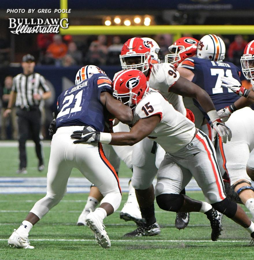 D'Andre Walker (15) - Georgia vs. Auburn 2017 - SEC Championship