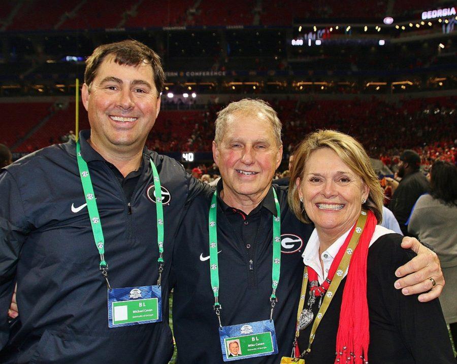Michael, Mike and Becky Cavan - 2017 SEC Championship - Dawgs 28 Auburn 7 - 12-2-17 - (Photo by Rob Saye)