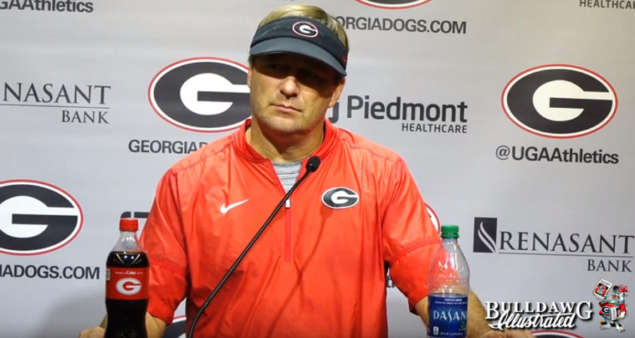 Kirby Smart during Tuesday's post-practice press conference, September 3, 2019.