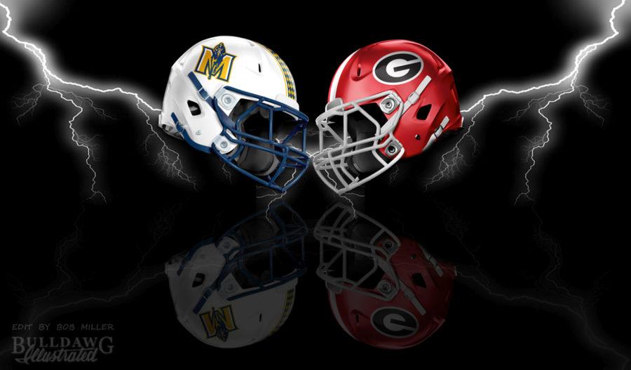 UGA vs. Murray State helmet edit by Bob Miller