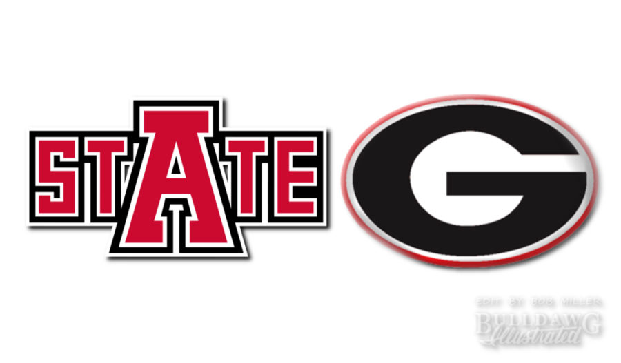 Georgia vs. Arkansas State 2019 graphic edit by Bob Miller