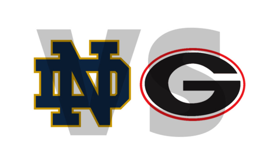 Georgia G vs Notre Dame ND logo edit by Bob Miller