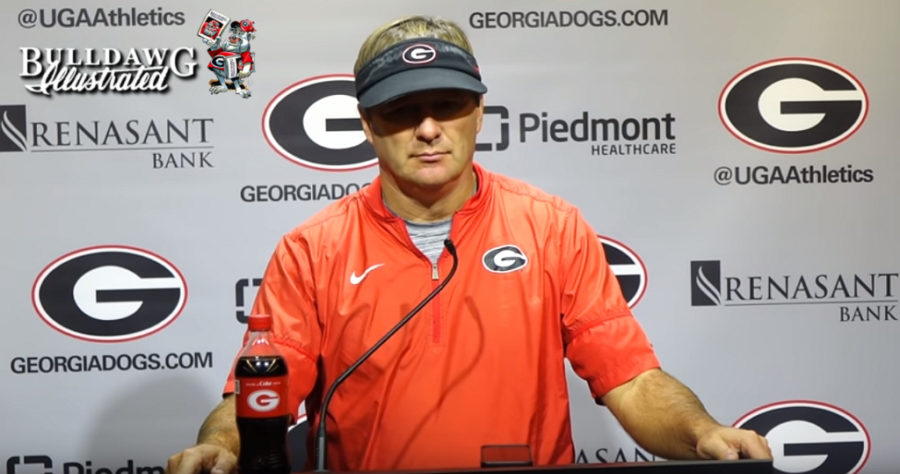Kirby Smart during Tuesday's post-practice press conference, October 22, 2019