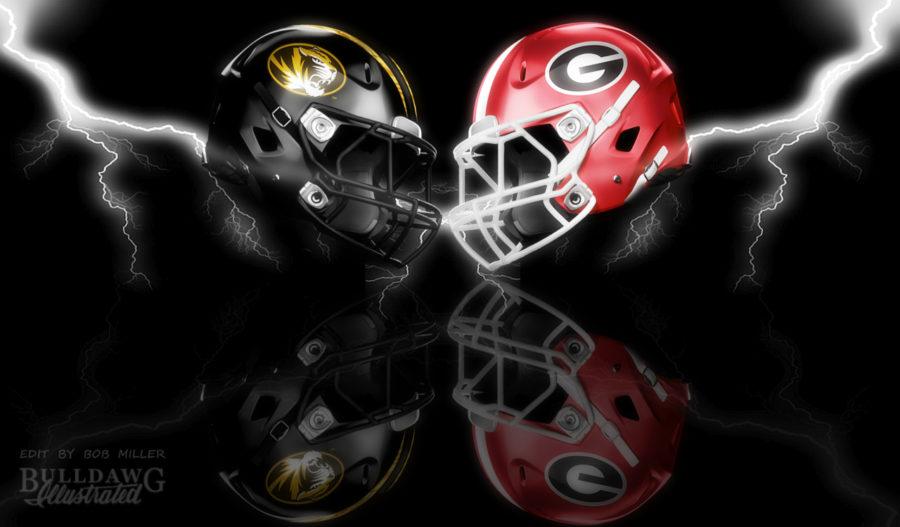 Georgia vs. Missouri 2019 helmet graphic edit with LOMO and WONDER by Bob Miller