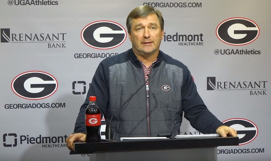 Kirby Smart during the Georgia-Auburn week press conference, Monday, November 11, 2019