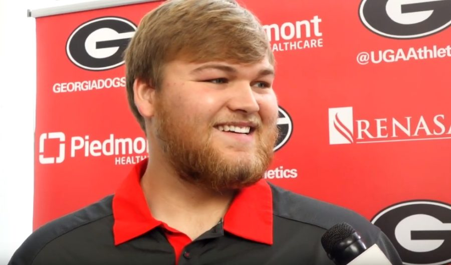 Cade Mays during player interviews on Monday, November 11, 2019