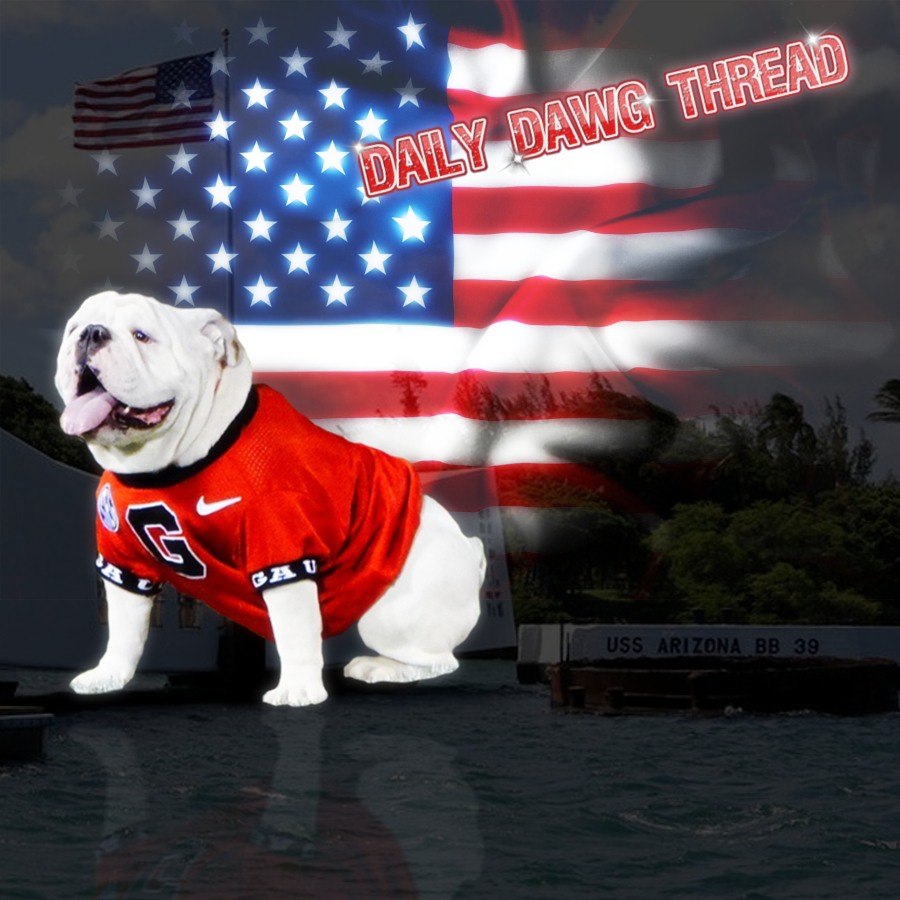 2019-12-07 December 7 Daily Dawg Thread graphic edit with Logo and effects by Bob Miller