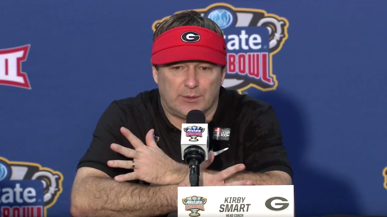 UGA head coach Kirby Smart during the 2020 Sugar Bowl postgame press conference on Wednesday, January 1st