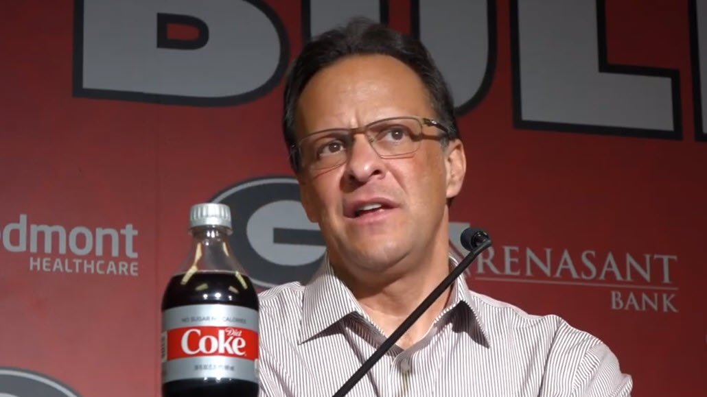 UGA men's basketball head coach Tom Crean during the Georgia-Tennessee postgame presser on Wednesday, January 15, 2020