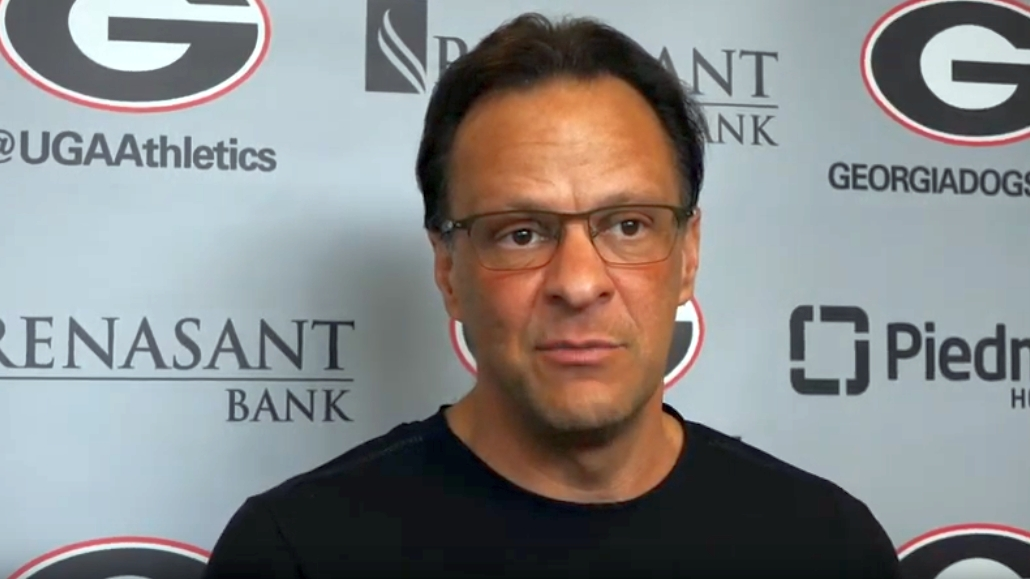 UGA men's basketball head coach Tom Crean during the Georgia vs. Auburn pregame presser on Tuesday, February 18, 2020