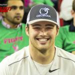 Jake Fromm takes in his first gymnastics meet as a student