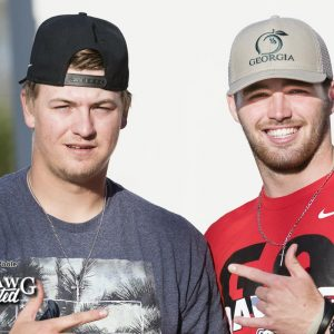 Tony Locey (baseball) and Jake Fromm (football) came out to suport the Dawgs vs GSU