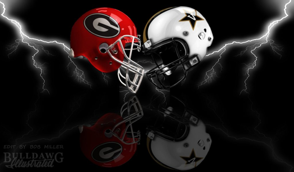 UGA versus Vanderbilt helmet graphic edit by Bob Miller