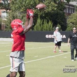 Javon Wims (6) - UGA Fall Camp - Practice No. 20 - Tuesday, August 22, 2017