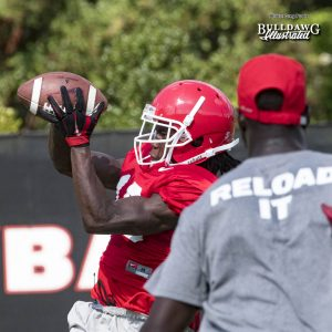 Ahkil Crumpton has great hands like WR Terry Godwin - UGA Fall Camp - Practice No. 20 - Tuesday, August 22, 2017